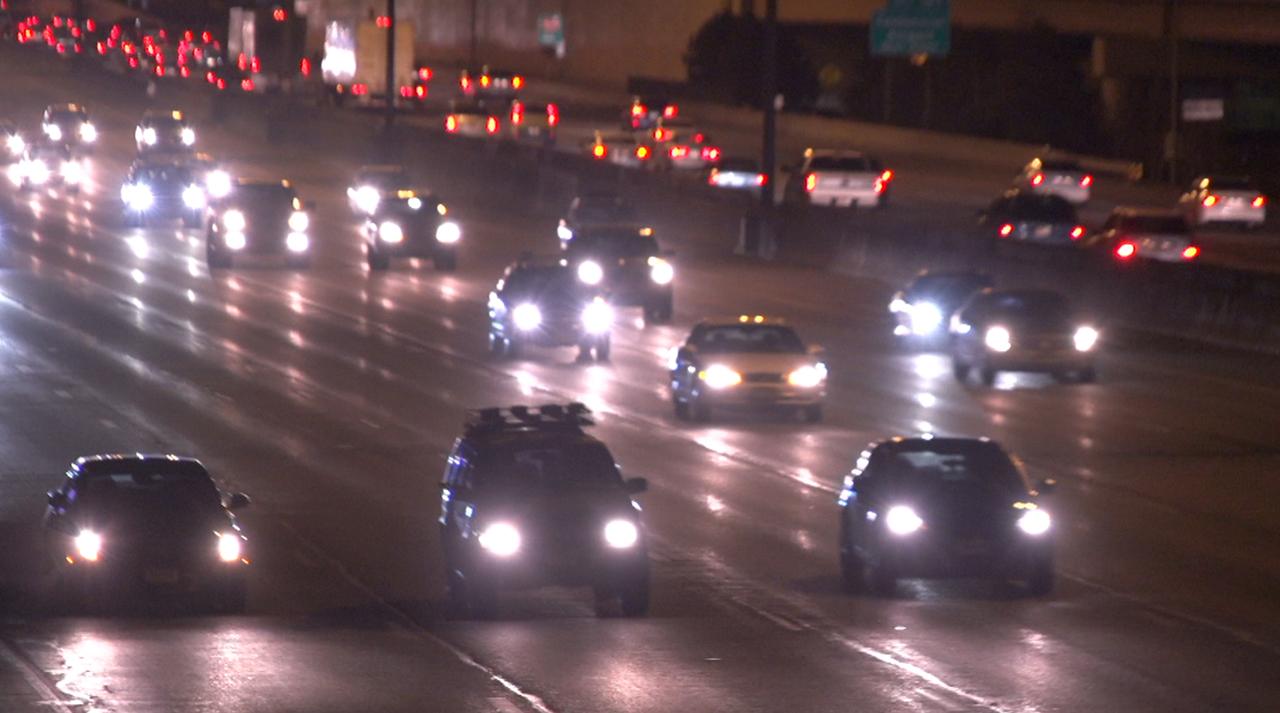 Denver Highway Traffic Night