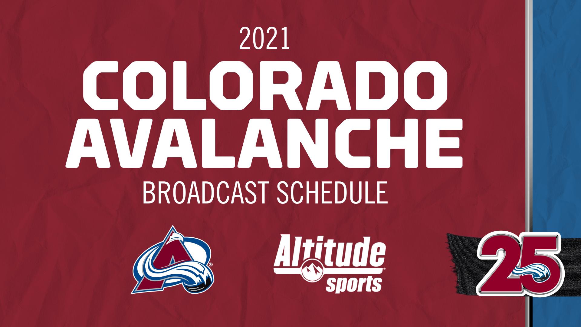 2020-21 Colorado Avalanche <b>TV</b> Schedule - <b>Altitude</b> Sports